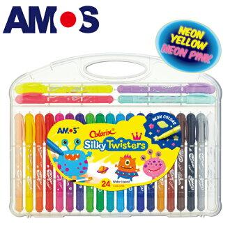 韓國AMOS 24色細款神奇水蠟筆(台灣總代理公司貨)