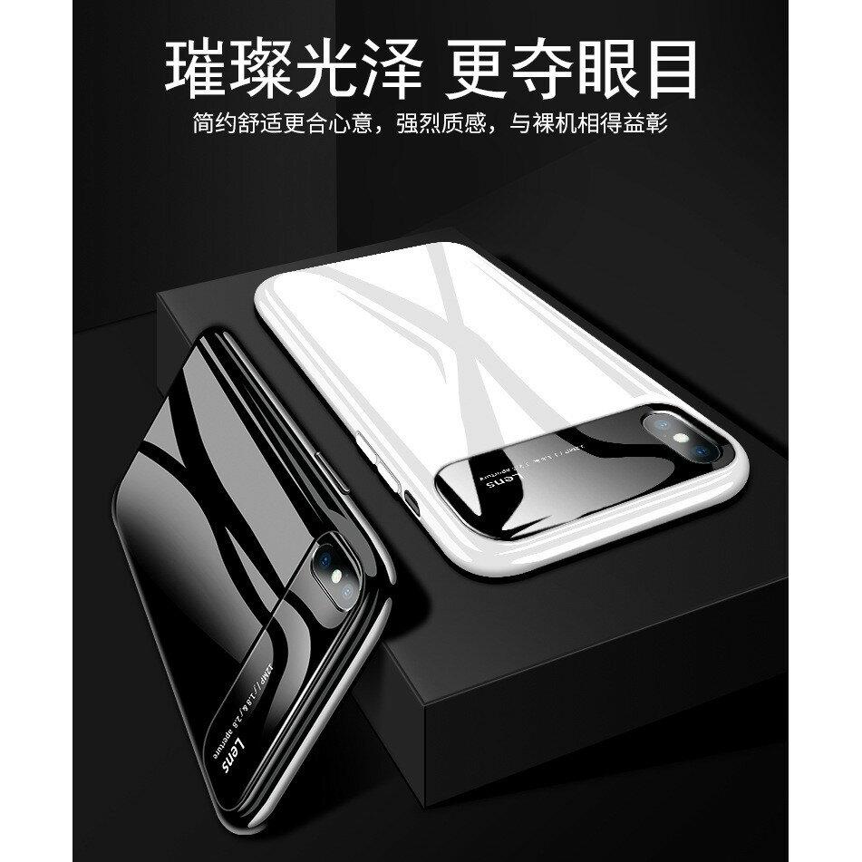 亮面光感外殼【鋼烤鏡面殼】iPhone還原裸機XS MAX保護套 蘋果7.8手機膜XR保護外殼