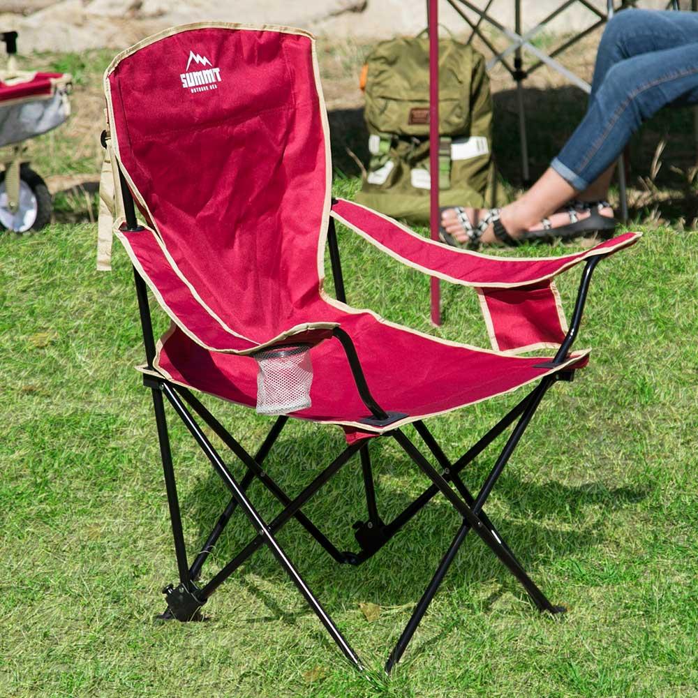 【日本品牌MODERN DECO】戶外系列高椅背 / 輕巧摺疊椅 / 露營折疊椅 / 紅色 / H&D東稻家居 / 好窩生活節 2
