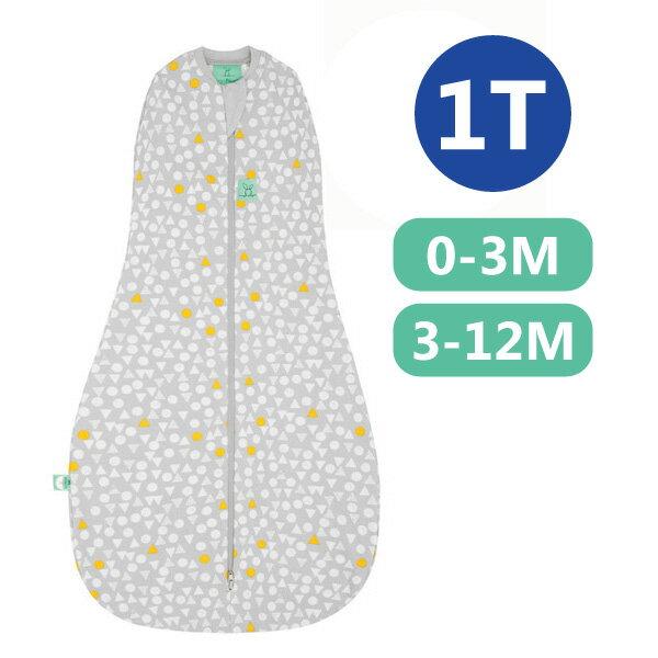 【全品牌任兩件贈三角圍兜】ergoPouch ergoCocoon 二合一竹纖有機舒眠包巾1T(春.秋款)(0~3M/3-12M) 懶人包巾-雪寶灰