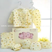 彌月禮盒推薦彌月禮盒組 新生兒肚衣禮盒 7件組 (0-3個月) 附提袋 ZH2016