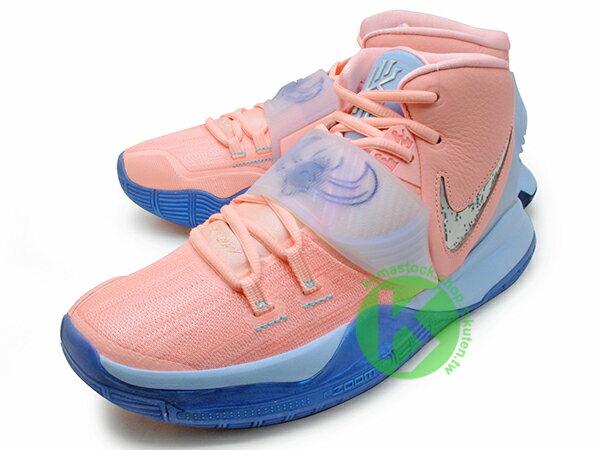 2019-2020 Kyrie Irving 最新代言鞋款 限量發售款 CONCEPTS x NIKE KYRIE 6 CNCPTS EP VI KHEPRI 淡粉紅 藍底 聖甲蟲 古埃及 神話 凱布利 前掌 ZOOM TURBO AIR 氣墊 (CU8880-600) ! 1