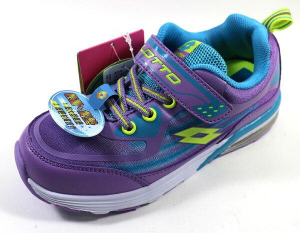[陽光樂活]LOTTO義大利Kids(女童)復古氣墊跑鞋-LT5AKR2787薰衣紫