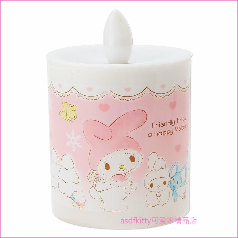 asdfkitty可愛家☆美樂蒂蠟燭造型室內燈/小夜燈-電池式-日本正版商品