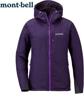 Mont-Bell 風衣外套/登山外套 防潑水保暖防風 女連帽款 1106562 EP紫