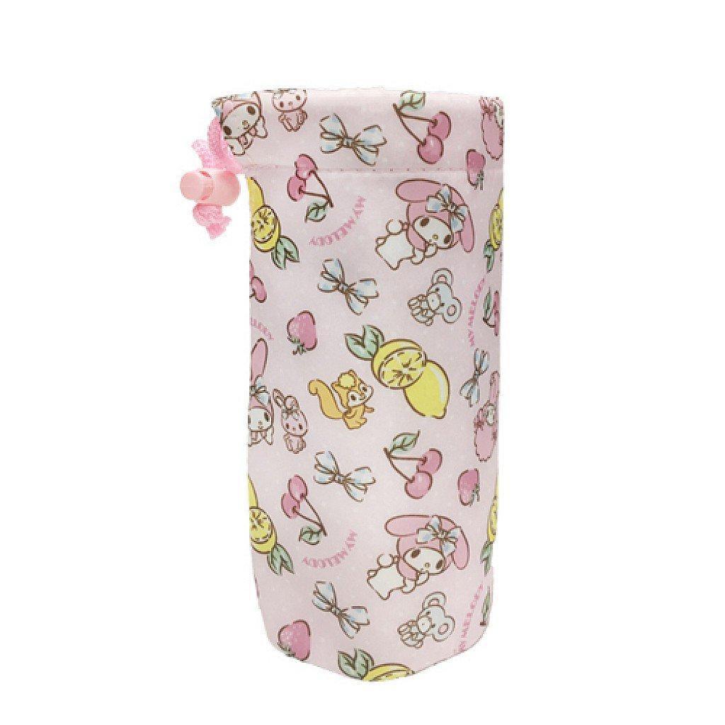 X射線【C573603】美樂蒂Melody 保冷水壺提袋,杯套/水壺套/水壺配件/水壺袋/隨行杯提袋/護套/保溫袋