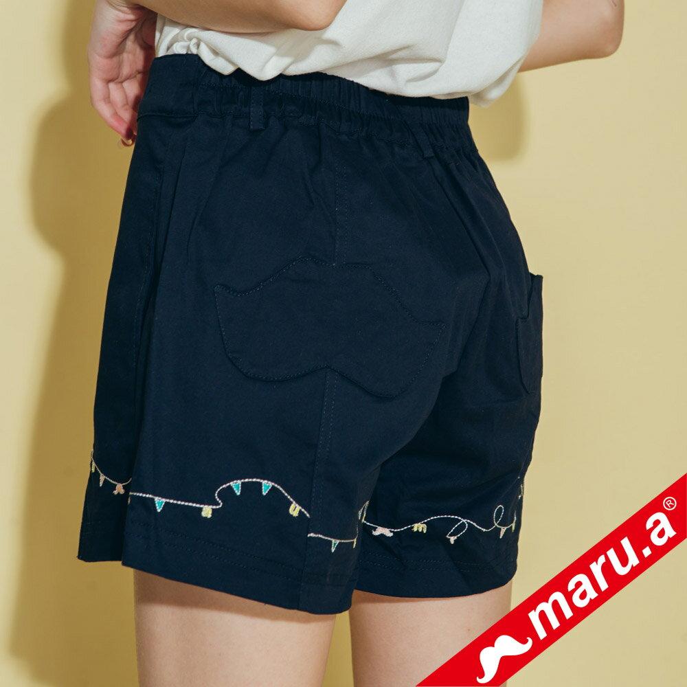 【maru.a】迷你刺繡開口短褲 8315114 4