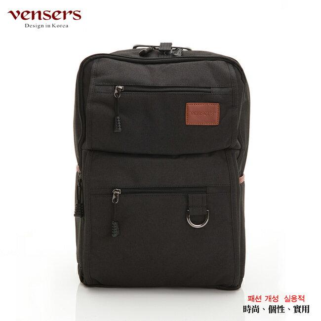 【vensers】簡約丹寧牛仔後背包(R00066101黑色) 0