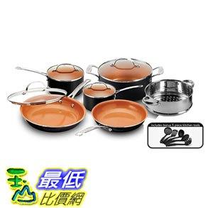 [8美國直購] 陶瓷鍋鈦合金不沾鍋 廚具套裝 Gotham Steel 15-Piece Titanium and Ceramic Nonstick Copper Frying Pan and Cookware