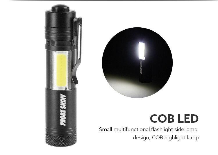 R2 超迷你LED手電筒 COB 掌心雷手電筒 附戰術夾 口袋手電筒 l2手電筒 停電燈