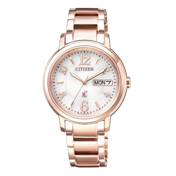 CITIZEN 星辰 XC系列 亞洲限定 甜美知性光動能腕錶 玫瑰金 EW2422-55A 32.5mm - 限時優惠好康折扣