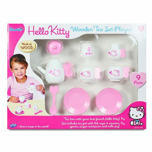 KT木製茶具組 Hello Kitty Tea Set 凱蒂貓 梳妝台 伯寶行 ~  好康