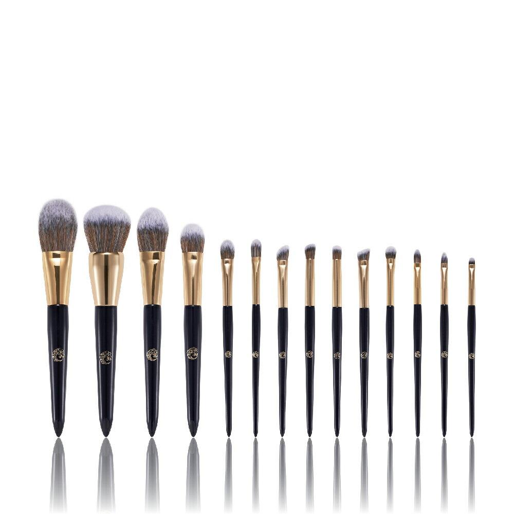【艾諾琪】黑金化妝刷14件套組(不含刷包)