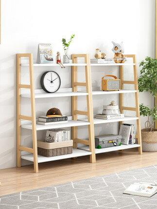 北歐書架落地簡易客廳創意儲物櫃臥室梯形架子多層收納置物架書櫃『xxs11909』