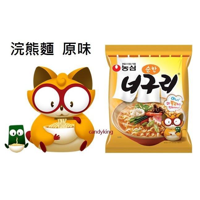 韓國泡麵 農心 正韓內銷版 浣熊麵 (原味)