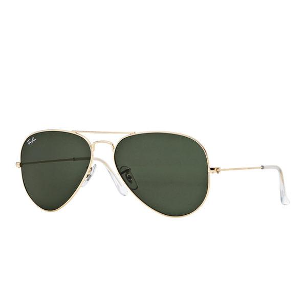 RayBan時尚太陽眼鏡(金框墨綠鏡面)