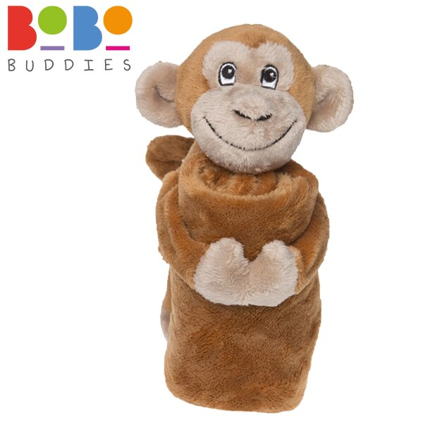 英國 BoBo Buddies 寶寶安撫巾 / 安撫玩偶 32x32cm - 猴子