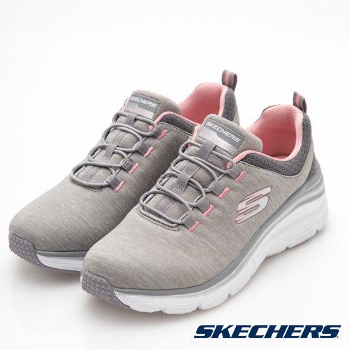 SKECHERS女鞋健走微增高記憶型鞋墊透氣灰【運動世界】12716GYLP