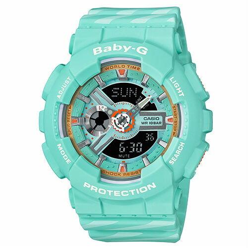 CASIOBABY-GBA-110CH-3AChance交疊線條少女雙顯流行腕錶