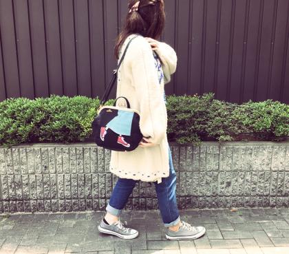 日本mis zapatos / 長裙x帆布鞋設計多功能休閒背包 / b6586 / 日本必買 日本樂天代購直送 2