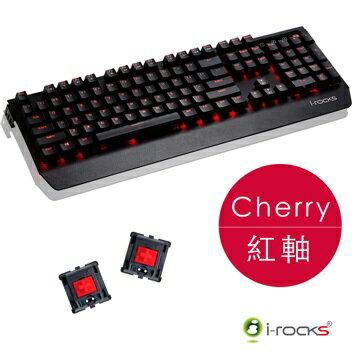 [富廉網]【i-Rocks】K60M全背光鋁合金機械式電競鍵盤黑色Cherry紅軸