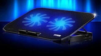 超强风速大风扇/金属缕空面板NB散热垫/笔电散热座+人体工学支架缓解疲劳笔记型电脑散热器