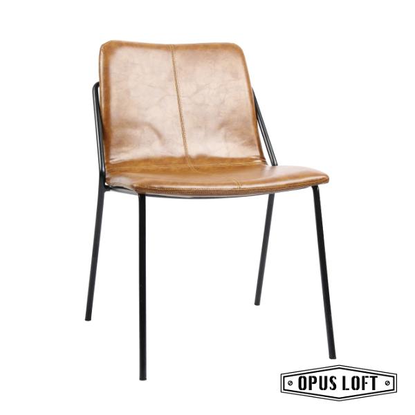 DIRECTOR德瑞克特復古皮革餐椅書房椅休閒椅餐椅