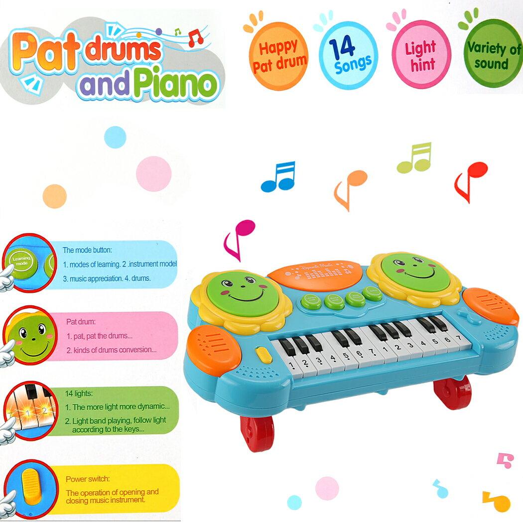 Baby Kids Educational Development Music Instrument Toy Battery Electronic Organ Keyboard Hand Beat Pat Drum Piano 4