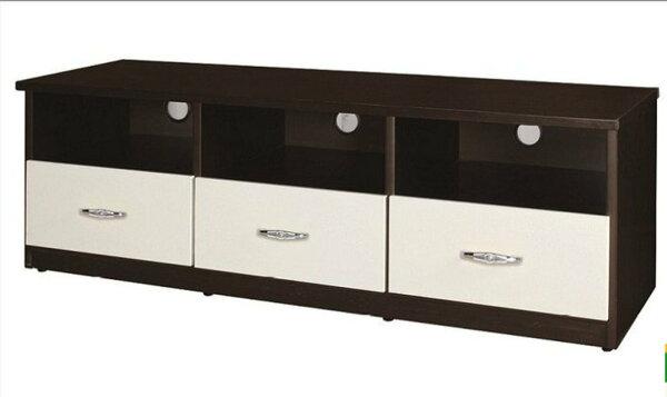 【石川家居】842-04(5尺胡桃白色)電視櫃(CT-201)#訂製預購款式#環保塑鋼P無毒防霉易清潔