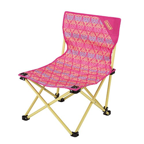 【鄉野情戶外專業】 Coleman |美國| 休閒椅 折合椅 折疊椅 板凳 野餐椅 樂趣椅-紅葉圖騰 CM-22015M000