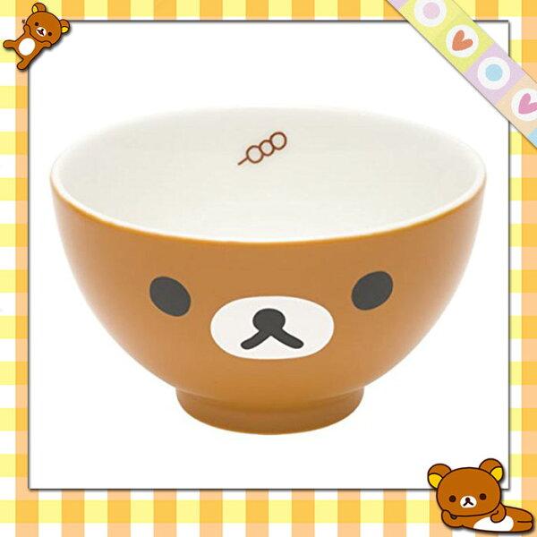Rilakkuma拉拉熊懶懶熊輕鬆小熊大臉造型碗陶瓷碗餐具日本進口正版633239