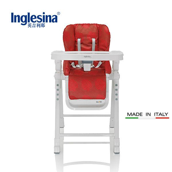 義大利原裝進口 Inglesina英吉利那 多功能GUSTO兒童餐椅 折疊嬰兒餐桌餐椅(紅色)