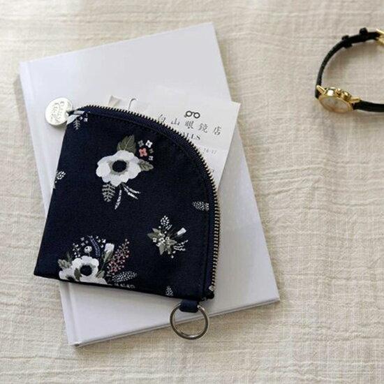 ♚MY COLOR♚韓版印花扇形零錢包 卡片 鑰匙圈 收納 閨蜜 禮物 迷你 學生 上班族 便攜【B54】