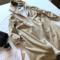 風衣外套推薦到風衣外套連帽大衣-韓版蝙蝠袖長款時尚女外套2色73oj4【獨家進口】【米蘭精品】就在巴黎精品推薦風衣外套