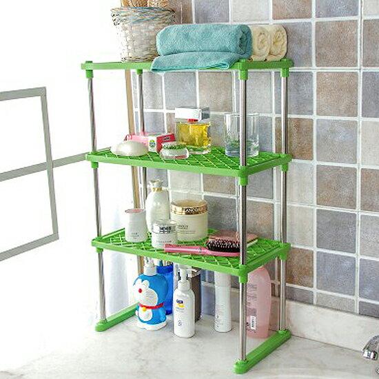 ♚MY COLOR♚三層加固不鏽鋼置物架 收納 整理 分類 居家 廚房 儲物 鞋櫃 放置 檯面【A41-1】