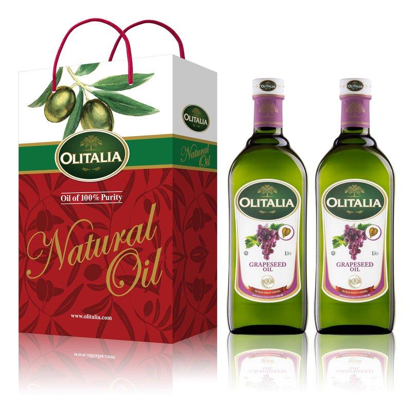 【奥利塔olitalia】葡萄籽油1000ml (2瓶礼盒组) A210004x2