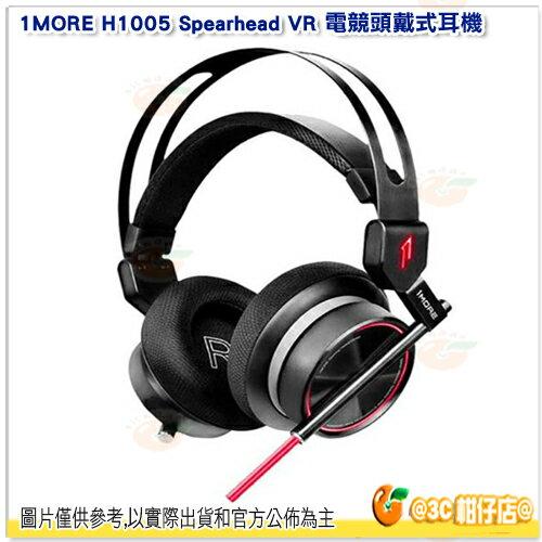 1MOREH1005SpearheadVR電競頭戴式耳機耳罩式雙麥克風遊戲耳麥3.5mm插頭