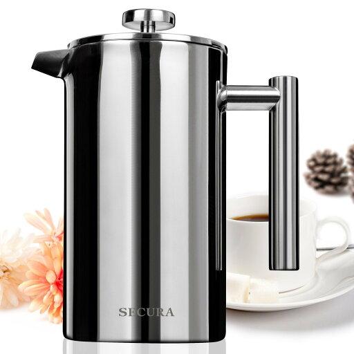Secura Stainless Steel French Press Coffee Maker 18/10 Bonus Stainless Steel Screen (1000ML) f88b6d68ec731661fa1867c7cebe30bc