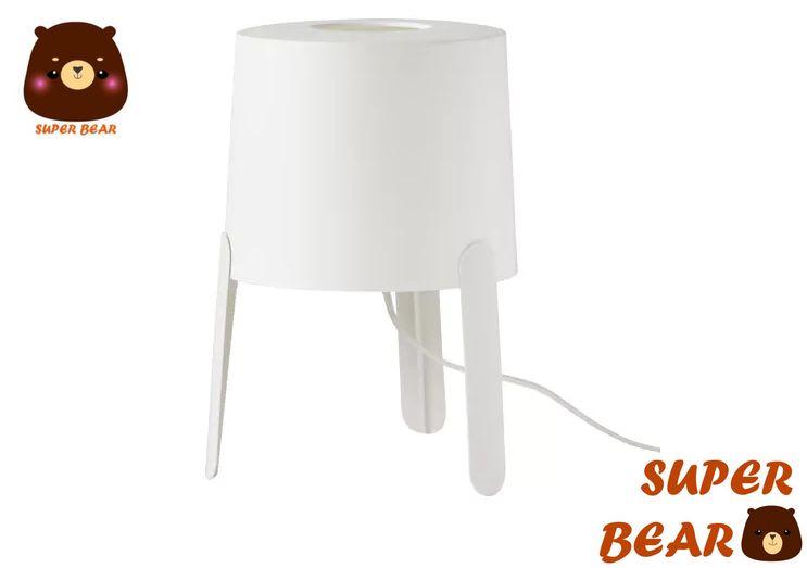 熊超人 桌燈 白色 時尚質感 熱銷TVÄRS/ IKEA