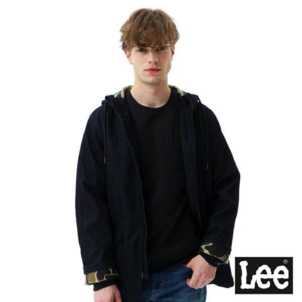 Lee Jeans tw:【2017秋冬新品全面8折】Lee連帽長版牛仔外套-男款-深藍【單筆消費滿1000元全會員結帳輸入序號『CNY100』↘折100