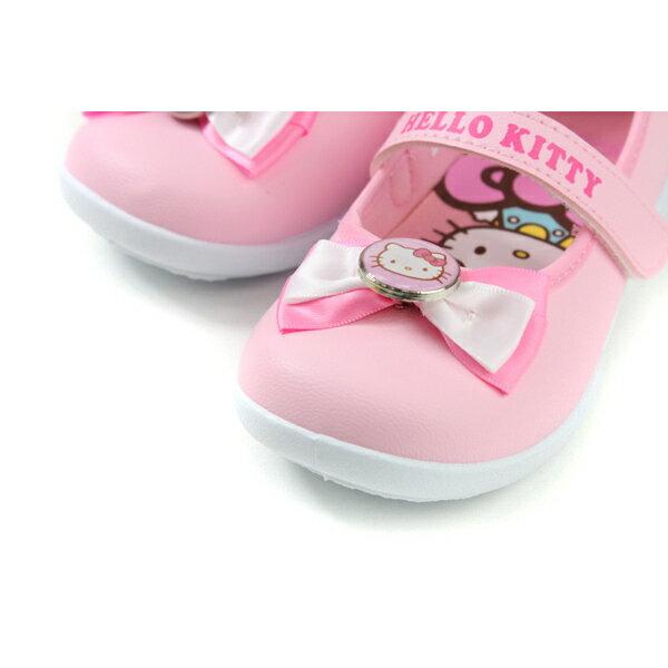 Hello Kitty 凱蒂貓 娃娃鞋 皮質 粉紅色 中童 童鞋 718742 no774 3