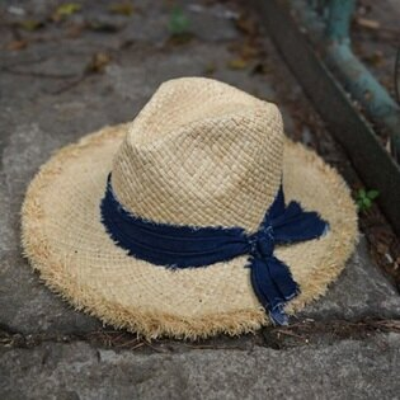 ★草帽手工編織爵士帽-復古有型時尚毛邊女遮陽帽73si92【獨家進口】【米蘭精品】