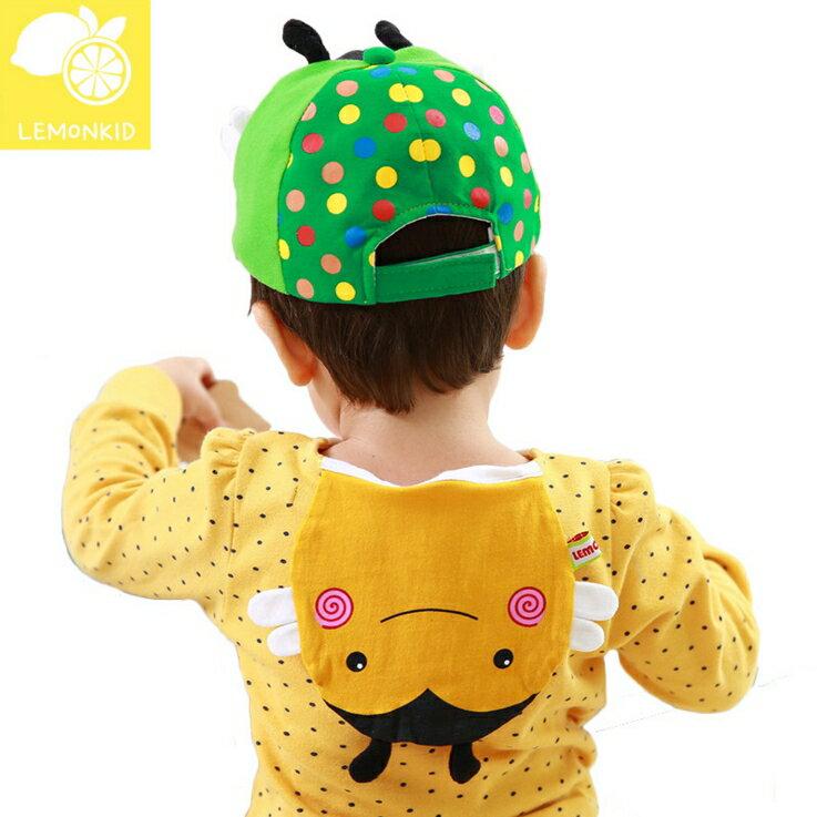 Lemonkid◆可愛小蜜蜂造型雙層吸汗純綿紗布兒童吸汗巾-黃色