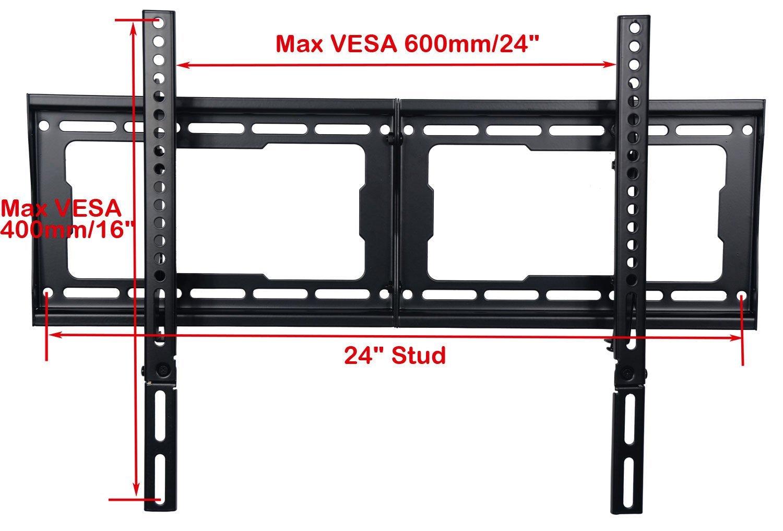 "VideoSecu Heavy Duty LCD LED Tilt TV Wall Mount Bracket for Samsung 26 32 39 40 46 50 51 55 60 64 65 75"" Plasma Flat Panel Screen HDTV Displays UN48H5500AFXZA- 165lbs /VESA 600x400mm BG3 3"