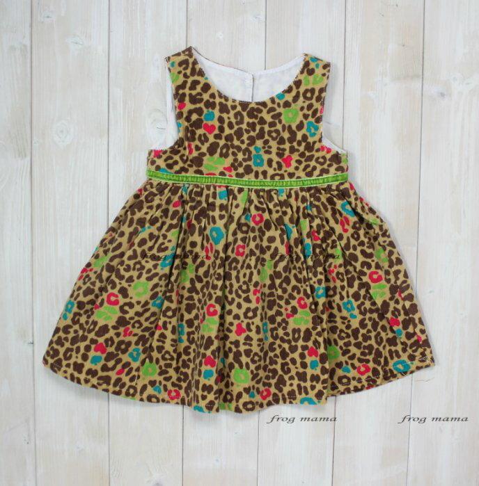 ~青蛙媽媽~next細絨豹紋洋裝9m^~36m
