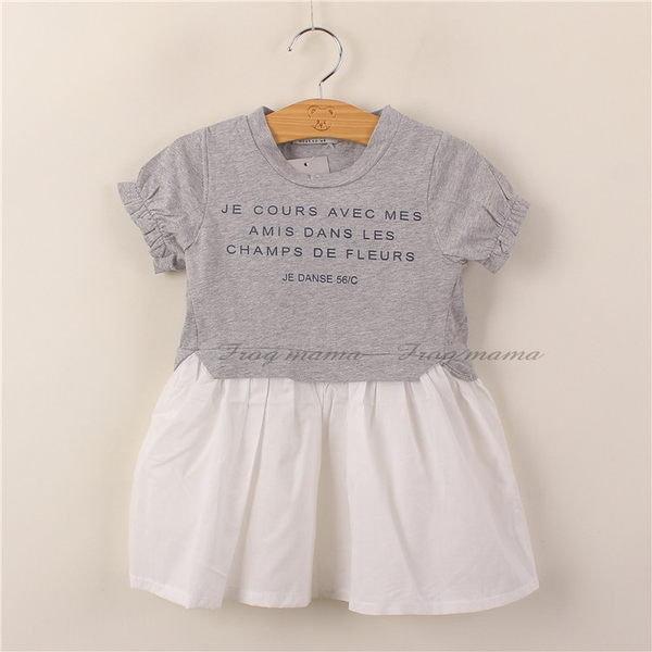 Next灰色拼接洋裝4/5T(6折出清)