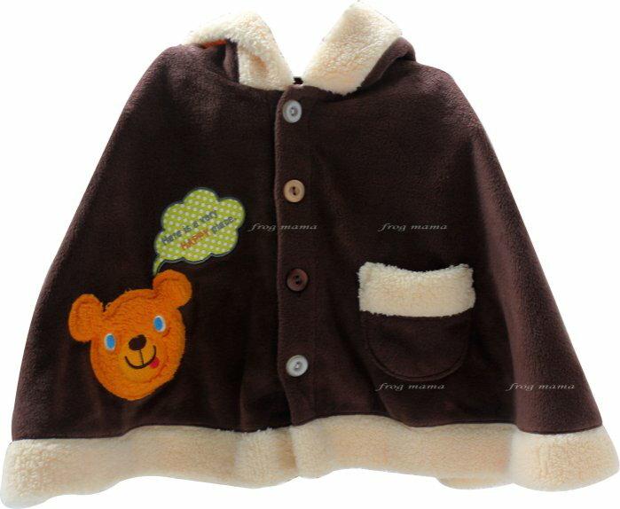 ☆青蛙媽媽☆日本小熊披風90.100cm