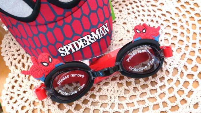 ☆青娃媽媽☆蜘蛛人立體造型兒童泳鏡.蛙鏡.附耳塞~