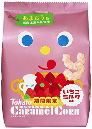 【Tohato東鳩】東鳩焦糖玉米脆果-草莓牛奶 77g 期間限定 日本進口零食★1月限定全店699免運