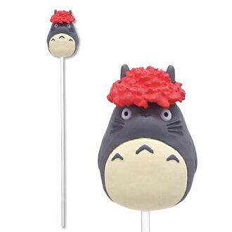 【真愛日本】17041400038 造型花插-灰龍貓紅花 龍貓 TOTORO 豆豆龍 盆栽用 日本帶回